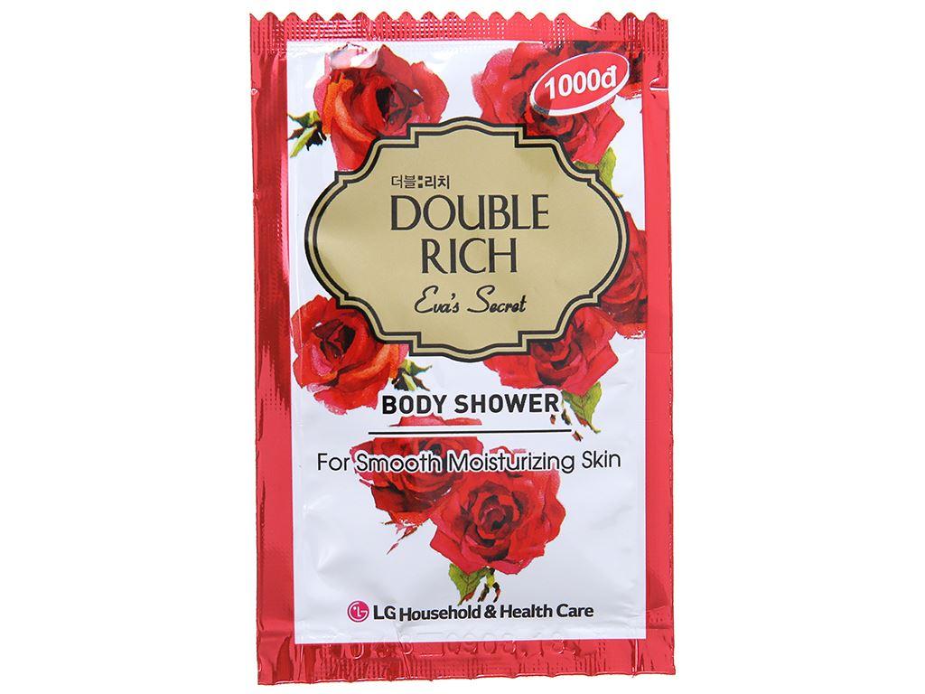 Sữa tắm hoa hồng Double Rich Eva's Secret 7g x 10 gói 2