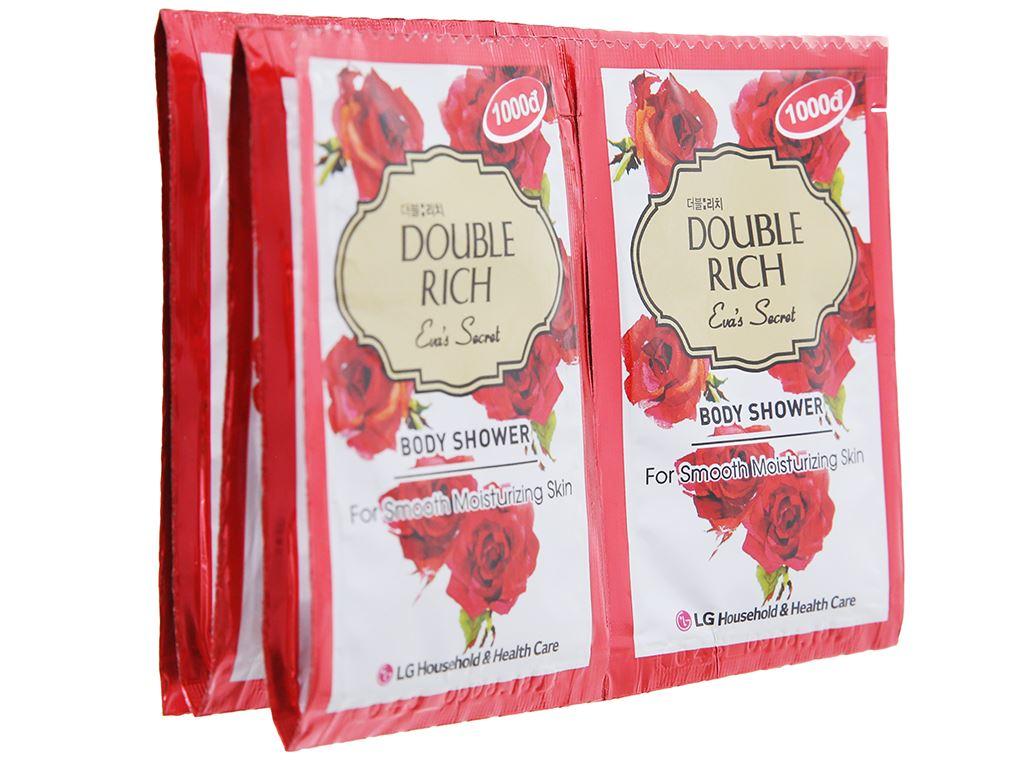 Sữa tắm hoa hồng Double Rich Eva's Secret 7g x 10 gói 4