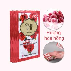 Sữa tắm hoa hồng Double Rich Eva's Secret 7g x 10 gói