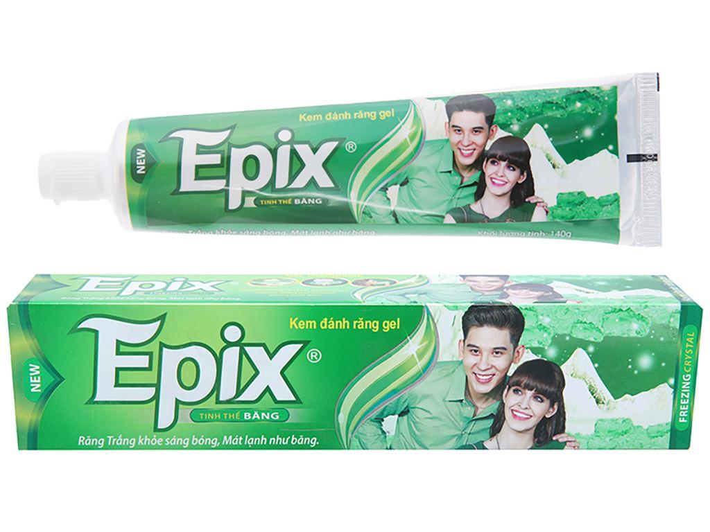Kem đánh răng Epix trắng răng tinh thể băng 140g 1