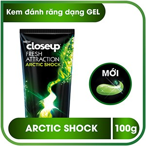 Kem đánh răng dạng gel Closeup Fresh Attraction Arctic Shock 100g