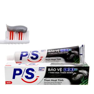Kem đánh răng P/S bảo vệ 123 than hoạt tính 180g