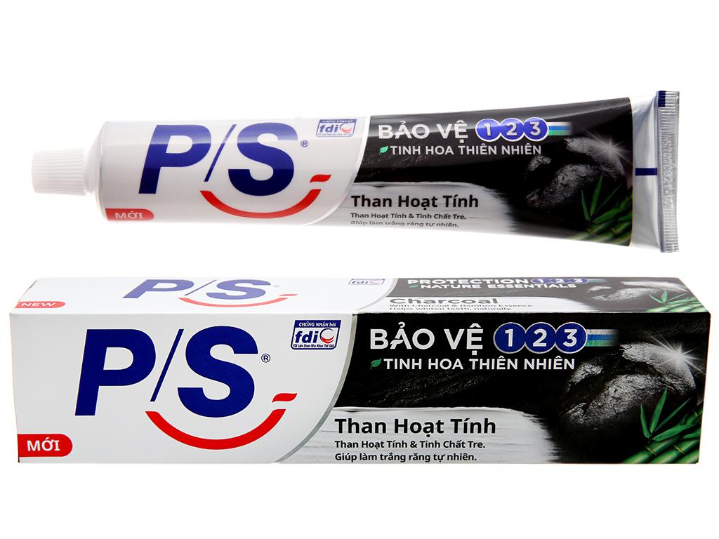 Kem đánh răng P/S bảo vệ 123 trắng răng than hoạt tính 180g 2