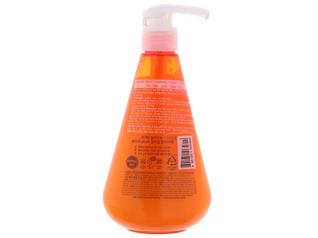 Kem đánh răng Perioe Pumping Citrus hương cam 285g 3