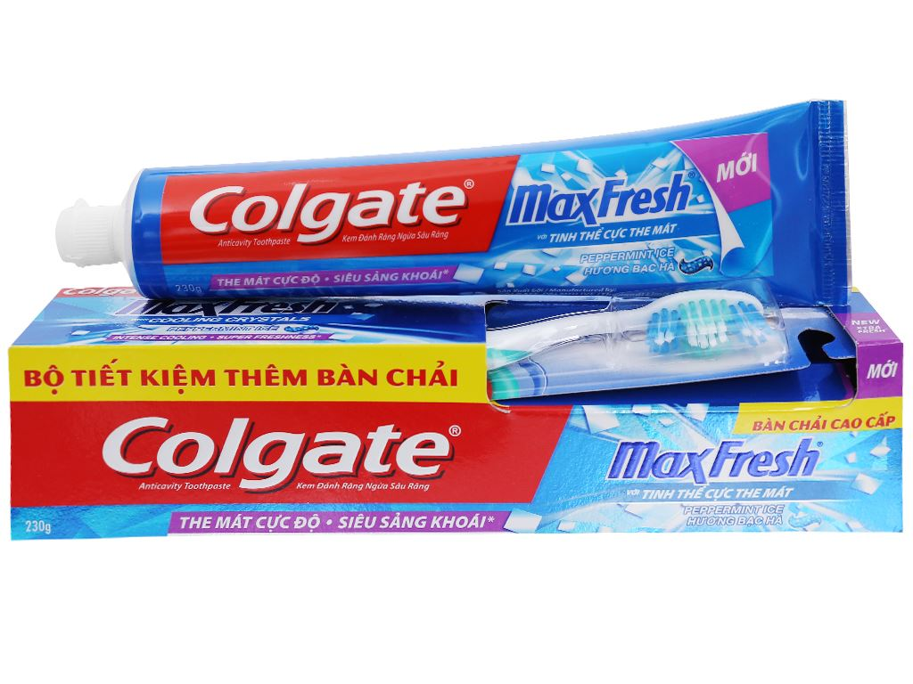 Kem đánh răng Colgate MaxFresh hương bạc hà 230g 2