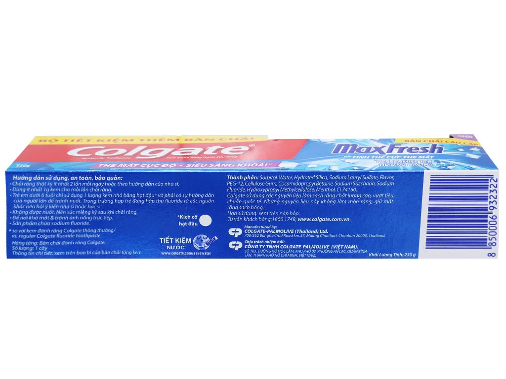 Kem đánh răng Colgate MaxFresh hương bạc hà 230g 4