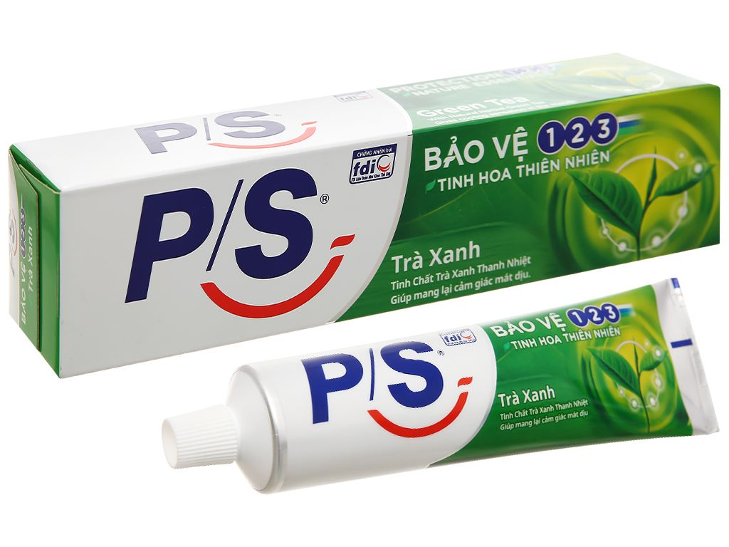 Kem đánh răng P/S bảo vệ 123 trà xanh thanh nhiệt 190g 1