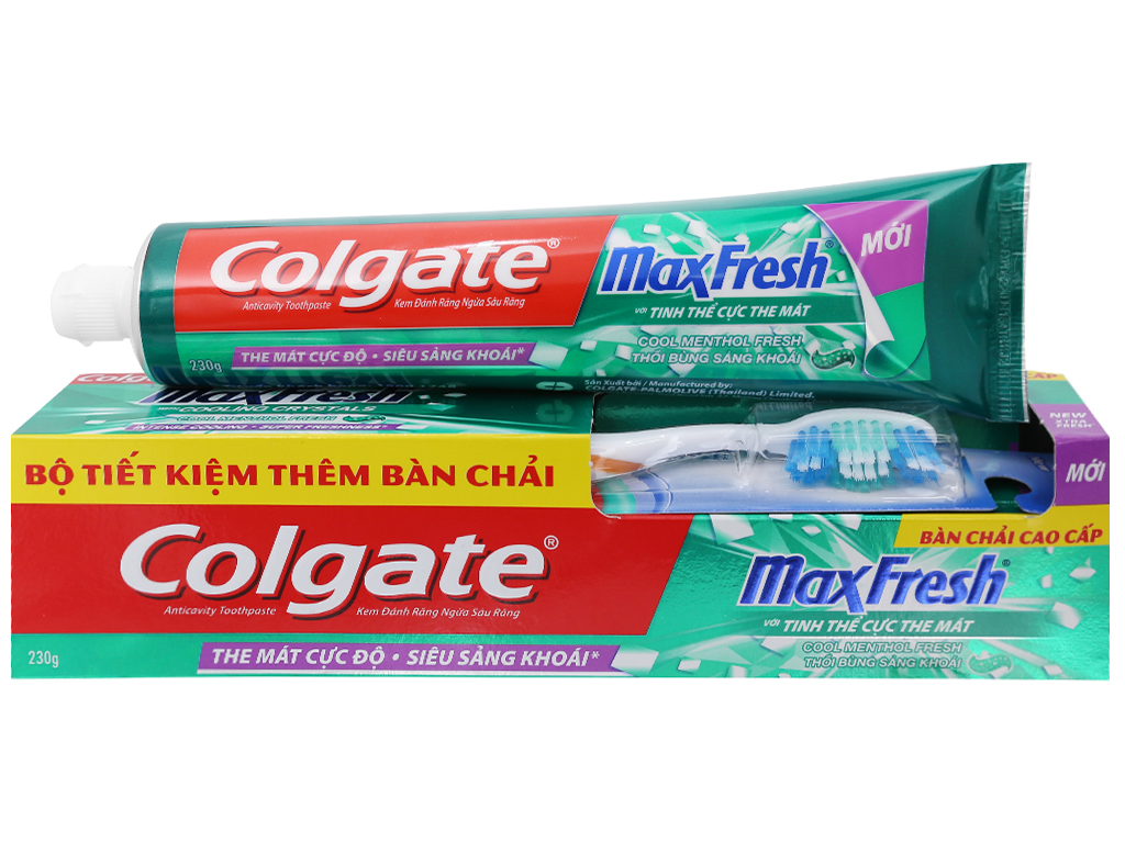 Kem đánh răng Colgate MaxFresh tinh thể cực the mát 230g 1