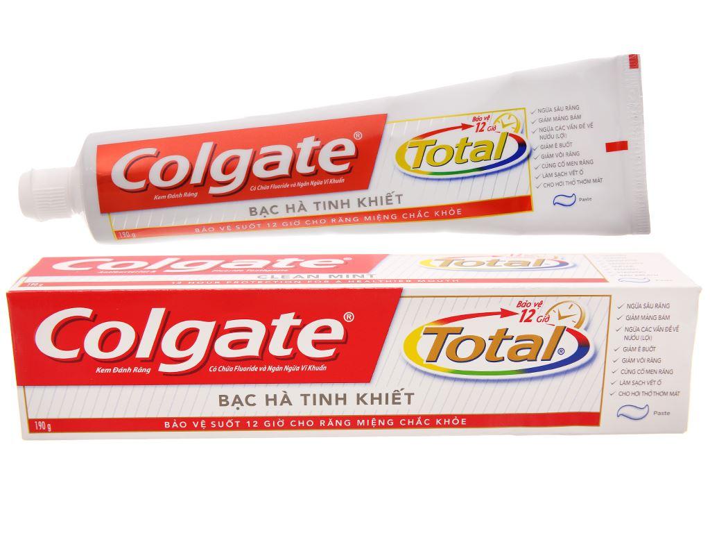Kem đánh răng Colgate Total bạc hà tinh khiết 190g 2