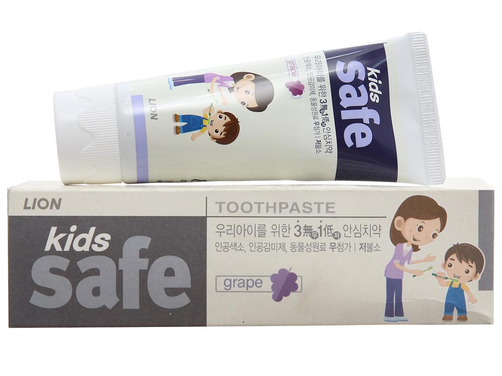 Kem đánh răng cho bé Kids Safe ngừa sâu răng hương nho 90g 2