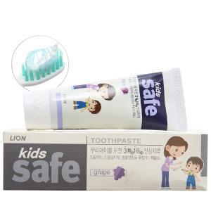 Kem đánh răng cho bé Kids Safe ngừa sâu răng nho 90g