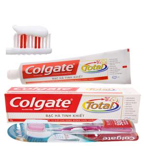 Kem đánh răng Colgate Total bạc hà tinh khiết 190g (kèm bàn chải)