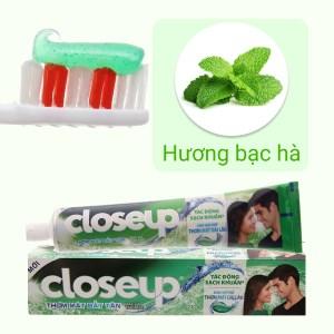 Kem đánh răng Closeup sạch khuẩn hương bạc hà the mát bất tận cho hơi thở thơm mát dài lâu 230g