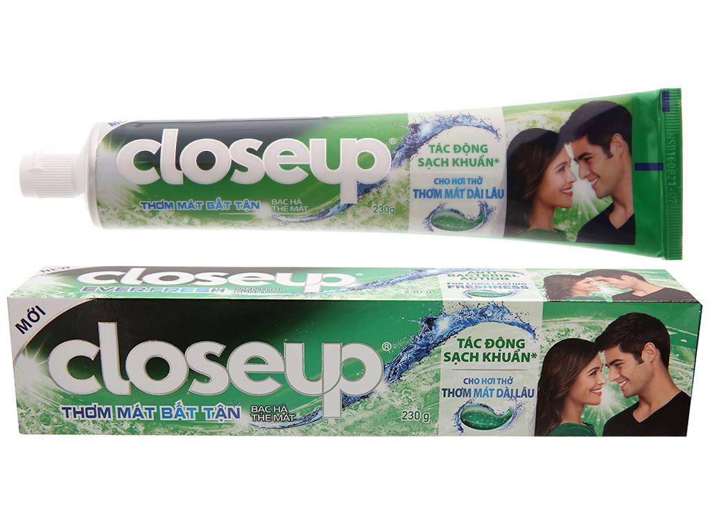 Kem đánh răng Closeup bạc hà thơm mát bất tận 230g 2