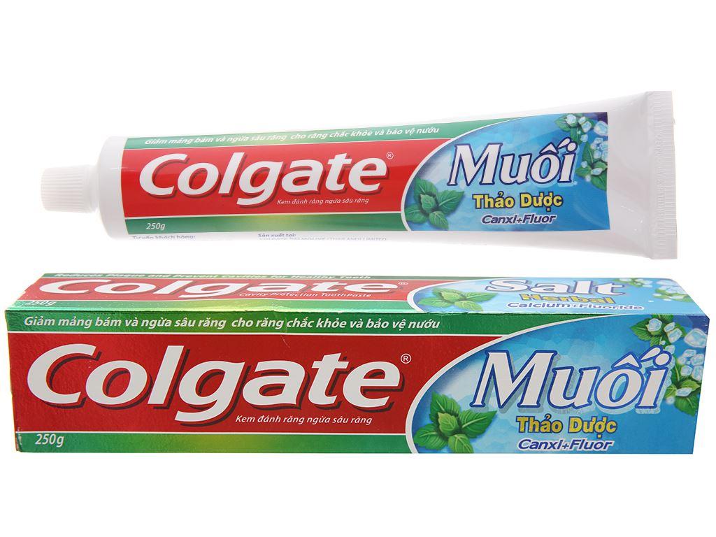 Kem đánh răng Colgate muối thảo dược Canxi + Flour 250g 2