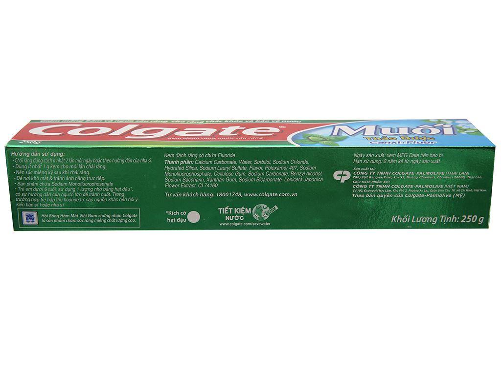 Kem đánh răng Colgate muối thảo dược Canxi + Flour 250g 3