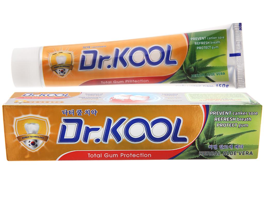 Kem đánh răng Dr. Kool thảo dược nha đam bảo vệ nướu toàn diện 150g 2