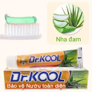 Kem đánh răng Dr. Kool thảo dược nha đam bảo vệ nướu toàn diện 150g