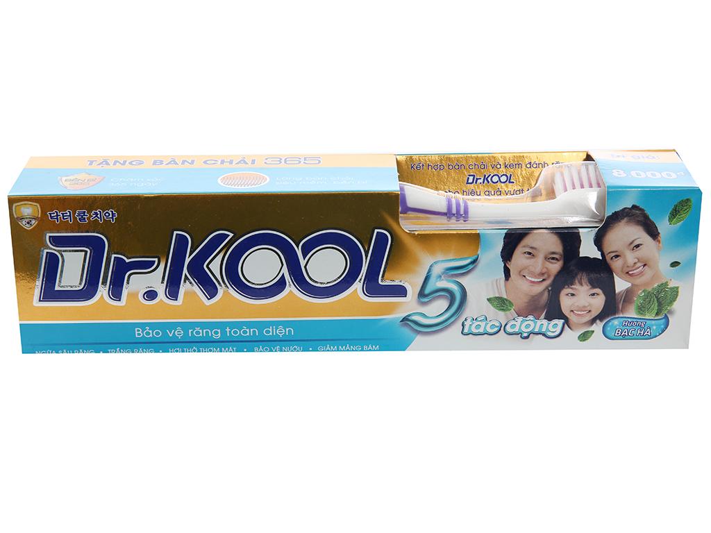 Kem đánh răng Dr. Kool 5 tác động hương bạc hà 200g 1
