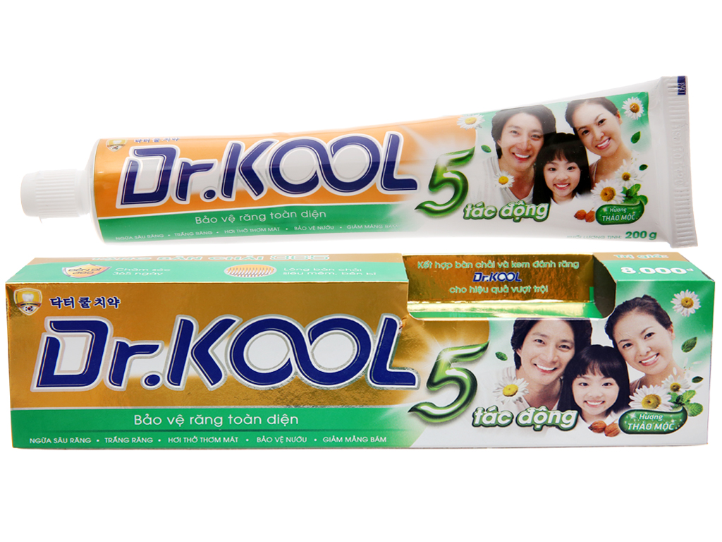 Kem đánh răng Dr. Kool 5 tác động hương thảo mộc 200g 2