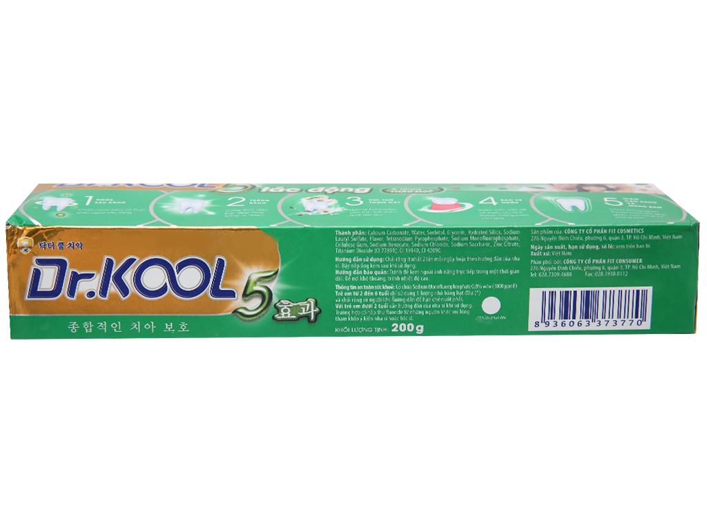 Kem đánh răng Dr. Kool 5 tác động hương thảo mộc 200g 3