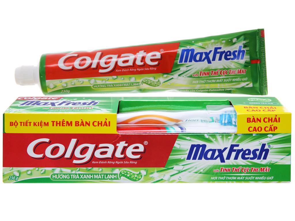 Kem đánh răng Colgate MaxFresh hương trà xanh 230g 2