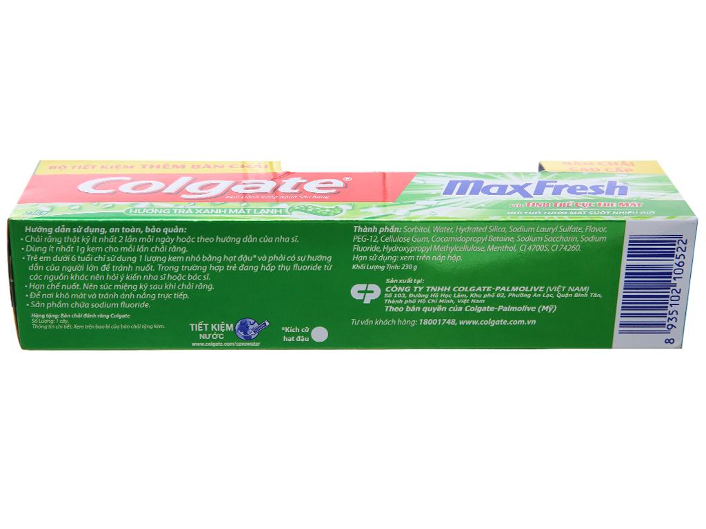 Kem đánh răng Colgate MaxFresh hương trà xanh 230g 3
