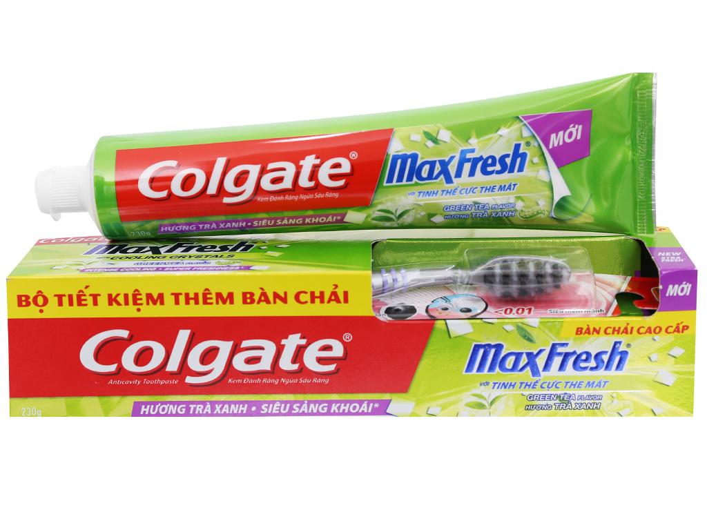 Kem đánh răng Colgate MaxFresh hương trà xanh 230g 6