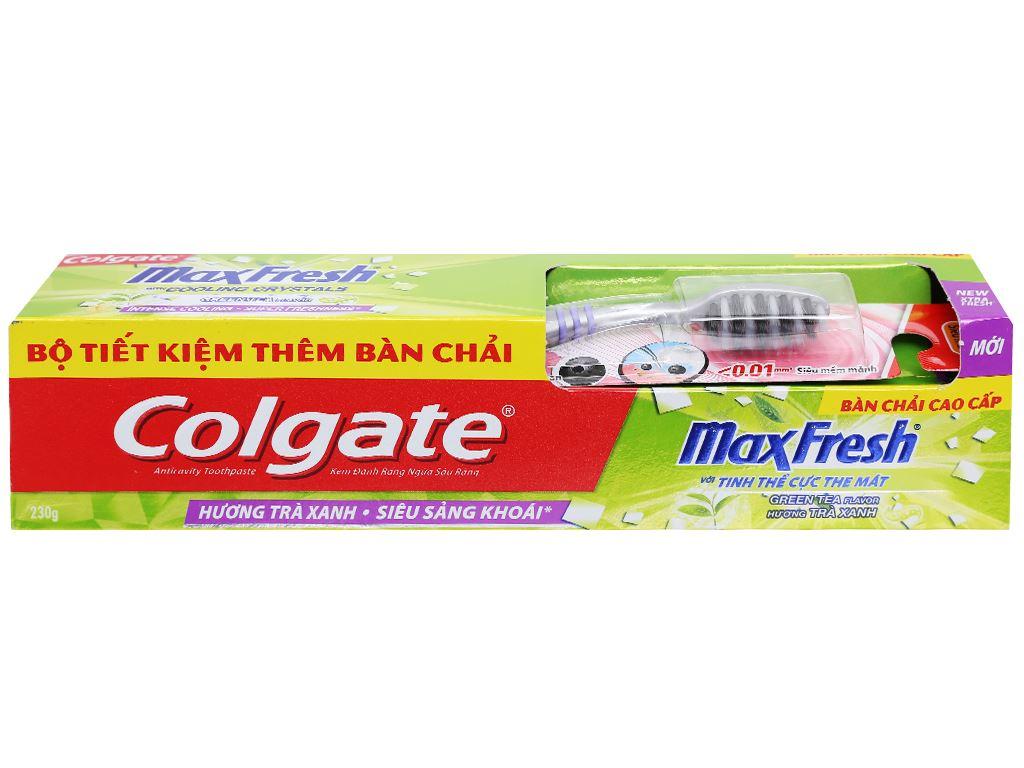 Kem đánh răng Colgate MaxFresh hương trà xanh 230g 7