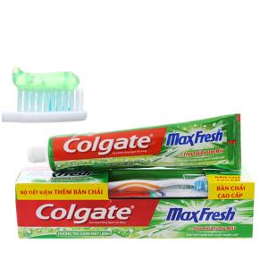 Kem đánh răng Colgate MaxFresh trà xanh cực the mát 230g