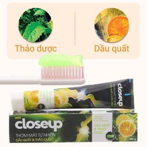 Gel đánh răng Closeup dầu quất & thảo dược 180g
