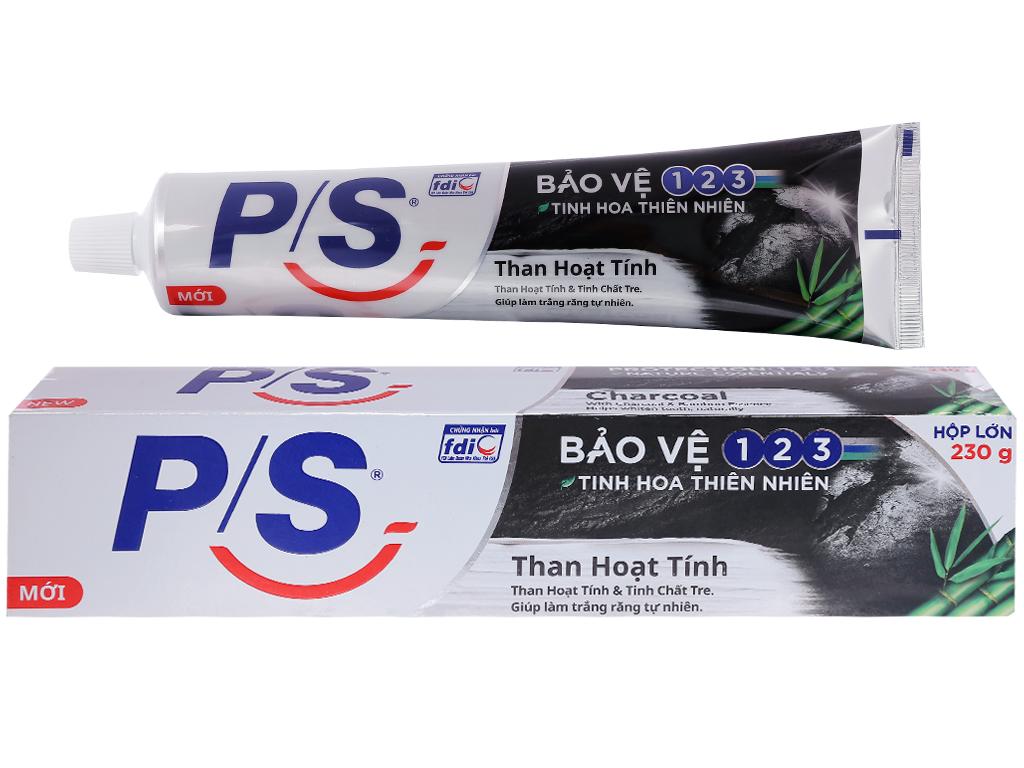Kem đánh răng P/S bảo vệ 123 than hoạt tính 230g 3