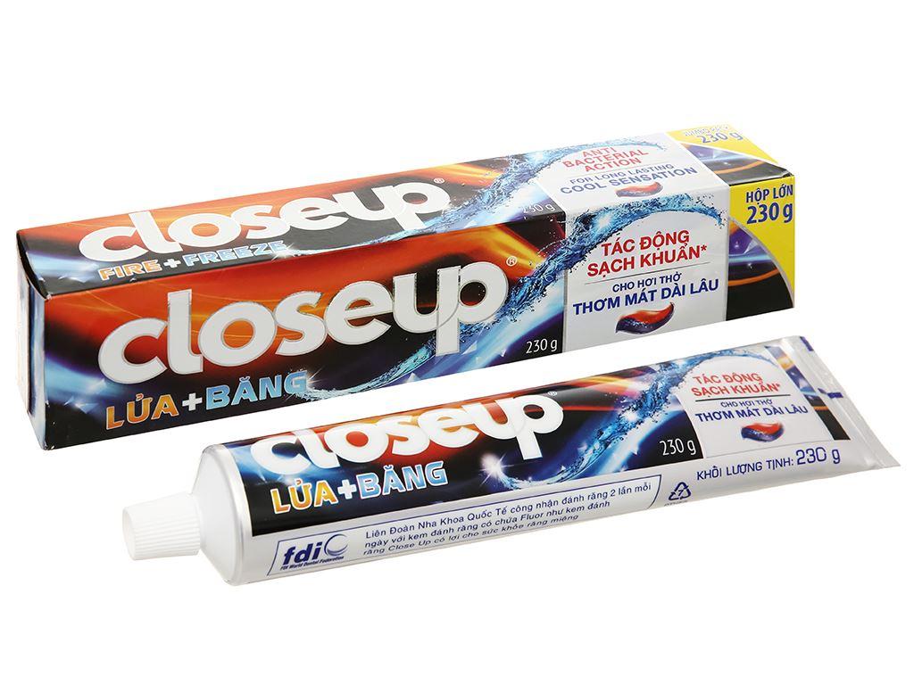 Kem đánh răng Closeup Lửa + Băng tác động sạch khuẩn 230g 1