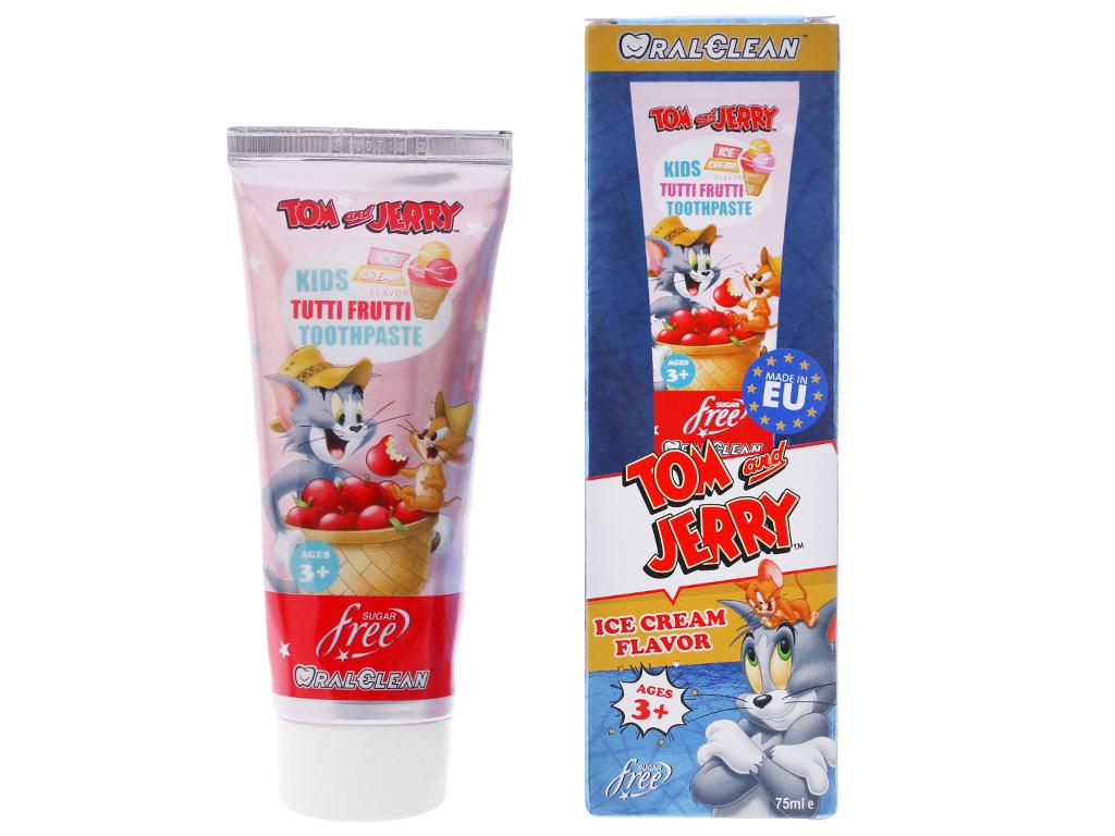Kem đánh răng cho bé 3 tuổi Oral-Clean Tutti Frutti 75ml 2