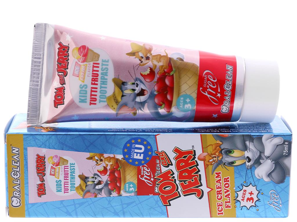 Kem đánh răng cho bé 3 tuổi Oral-Clean Tutti Frutti 75ml 1