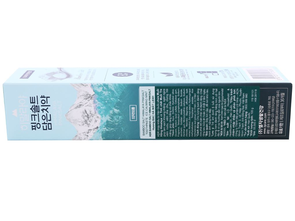 Kem đánh răng Bamboo Salt muối hồng Himalaya hương bạc hà 100g 3
