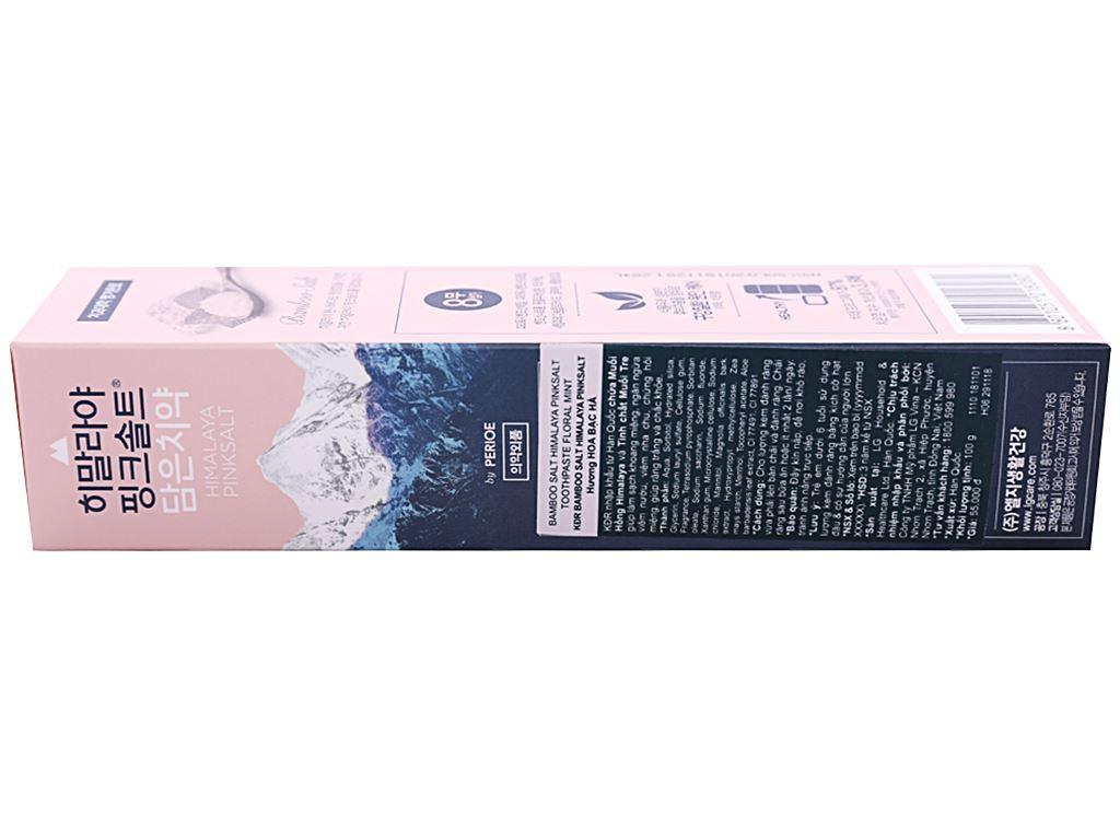 Kem đánh răng Bamboo Salt muối hồng Himalaya hương hoa bạc hà 100g 2