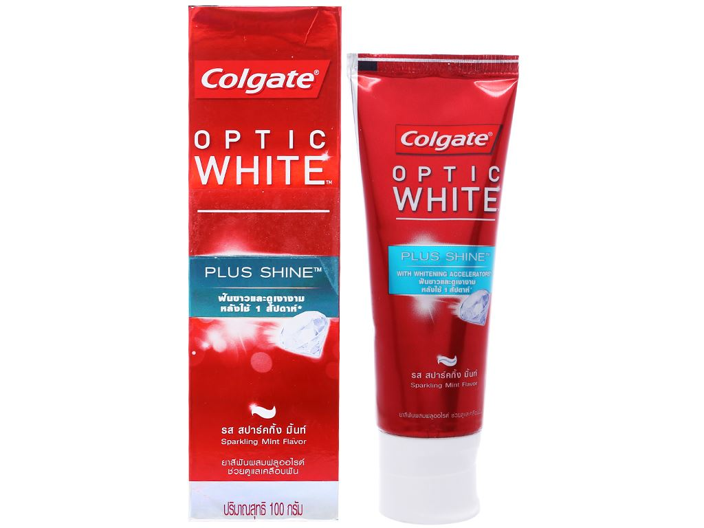 Kem đánh răng Colgate Optic White Plus Shine 100g 1