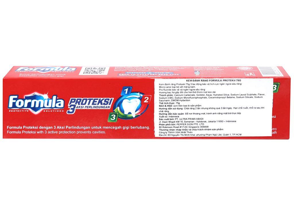 Kem đánh răng Formula Proteksi ngừa sâu răng 75g 3