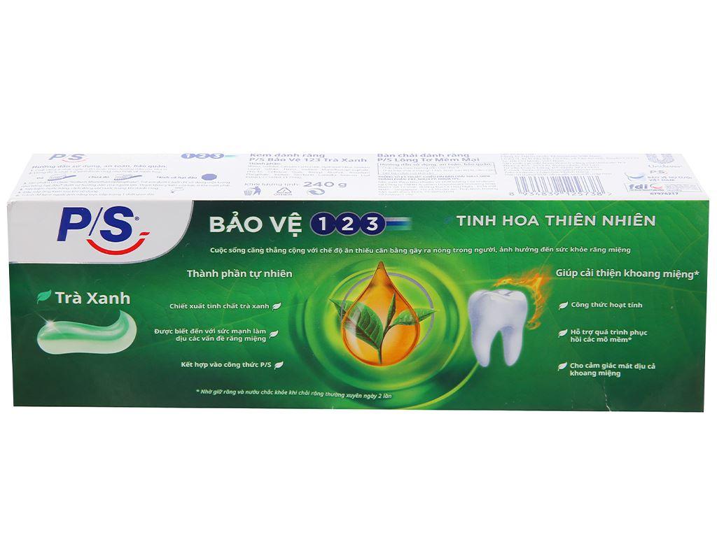 Bộ kem đánh răng và bàn chải đánh răng P/S trà xanh thanh nhiệt 240g 3