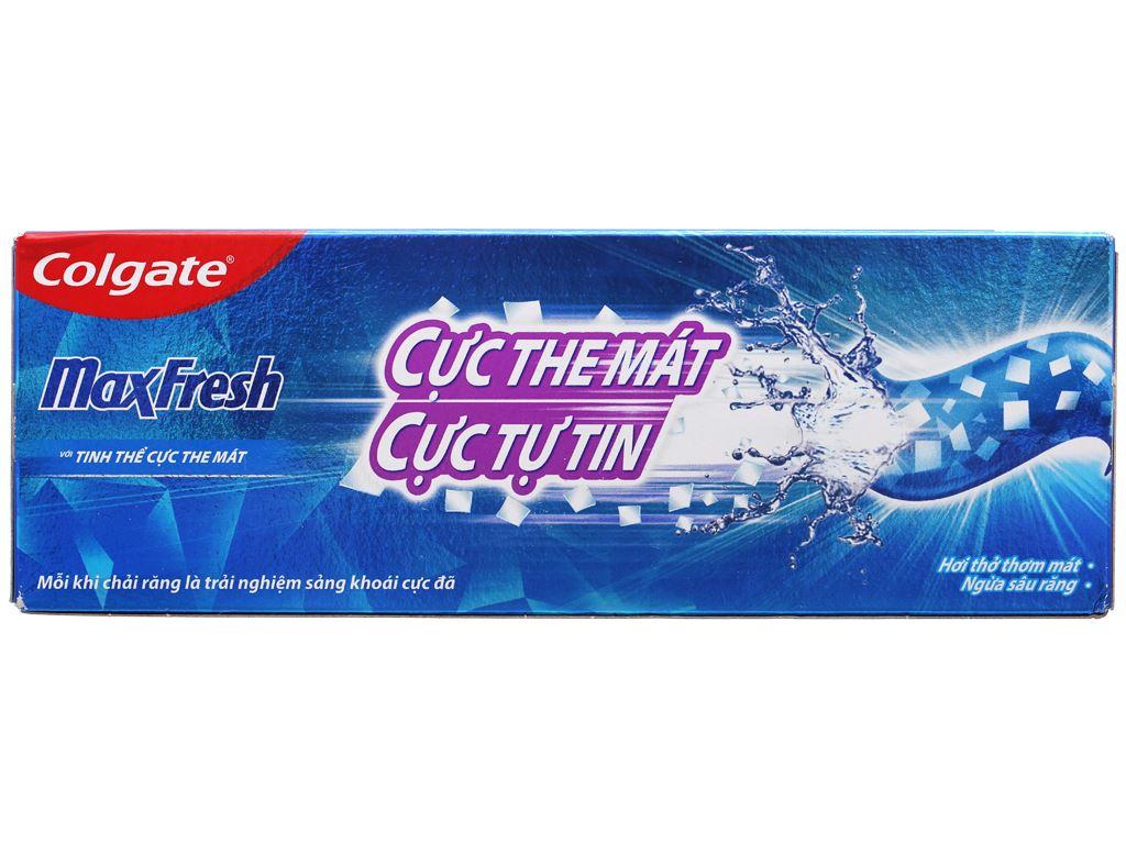 Bộ 2 kem đánh răng Colgate MaxFresh hương bạc hà 350g 3