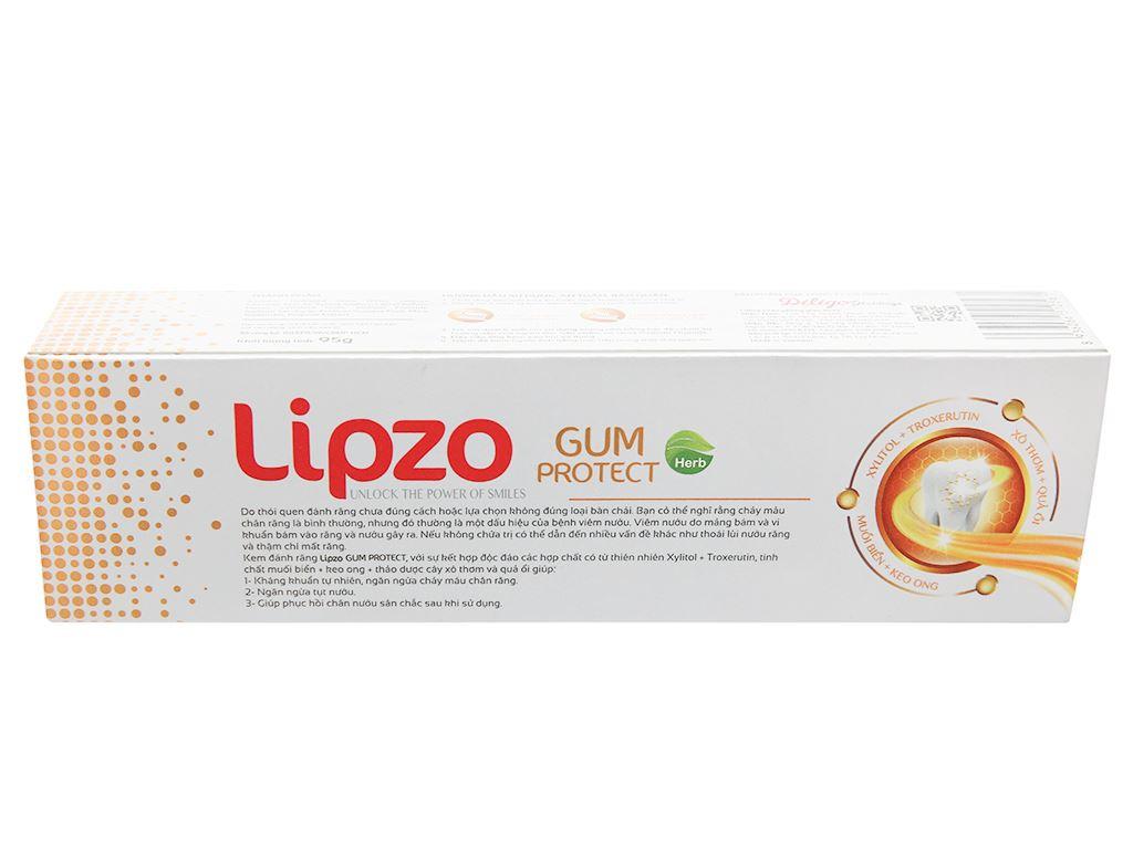 Kem đánh răng Lipzo Herb Gum Protect 95g 3