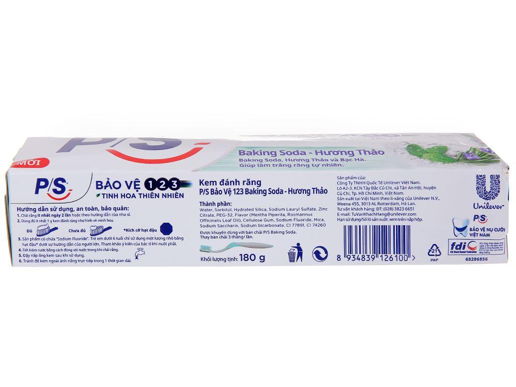 Kem đánh răng P/S bảo vệ 123 baking soda & hương thảo 180g 4