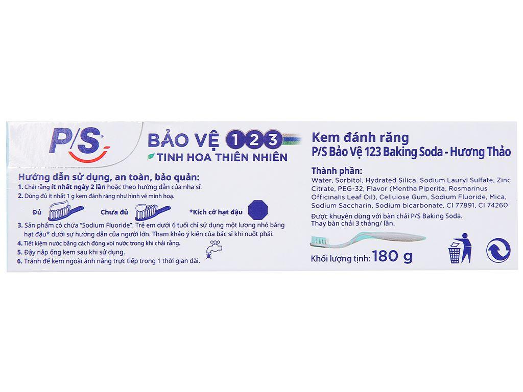 Kem đánh răng P/S bảo vệ 123 baking soda & hương thảo 180g 5