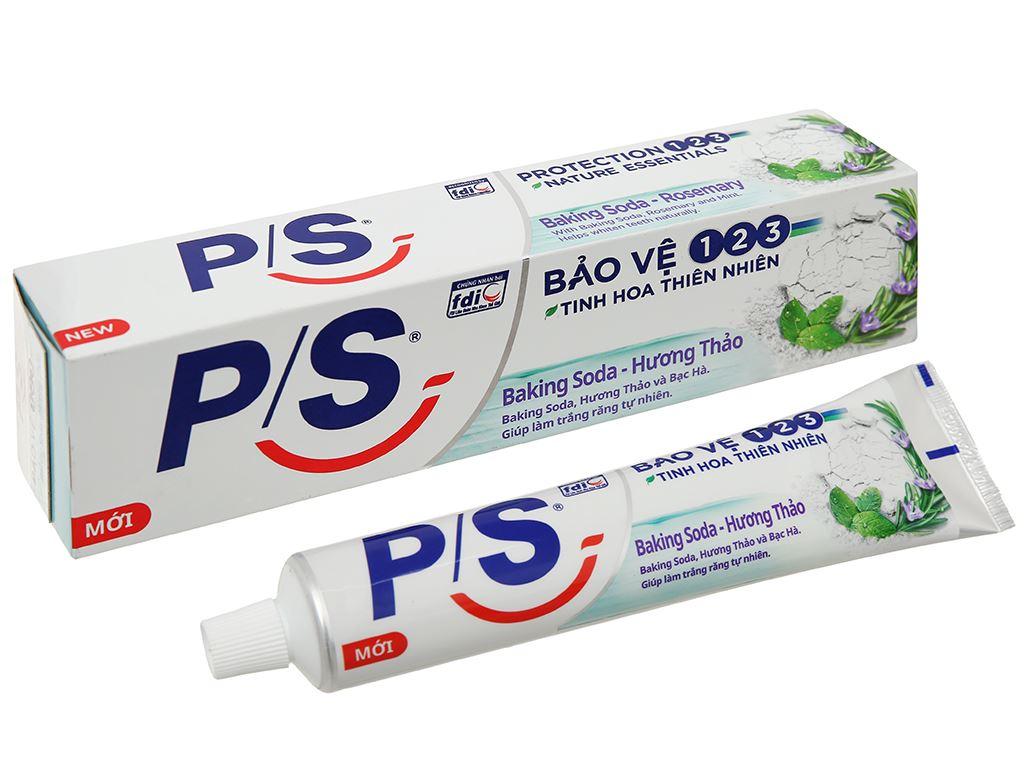 Kem đánh răng P/S bảo vệ 123 baking soda & hương thảo 180g 1