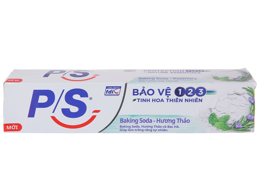 Kem đánh răng P/S bảo vệ 123 baking soda & hương thảo 230g 2