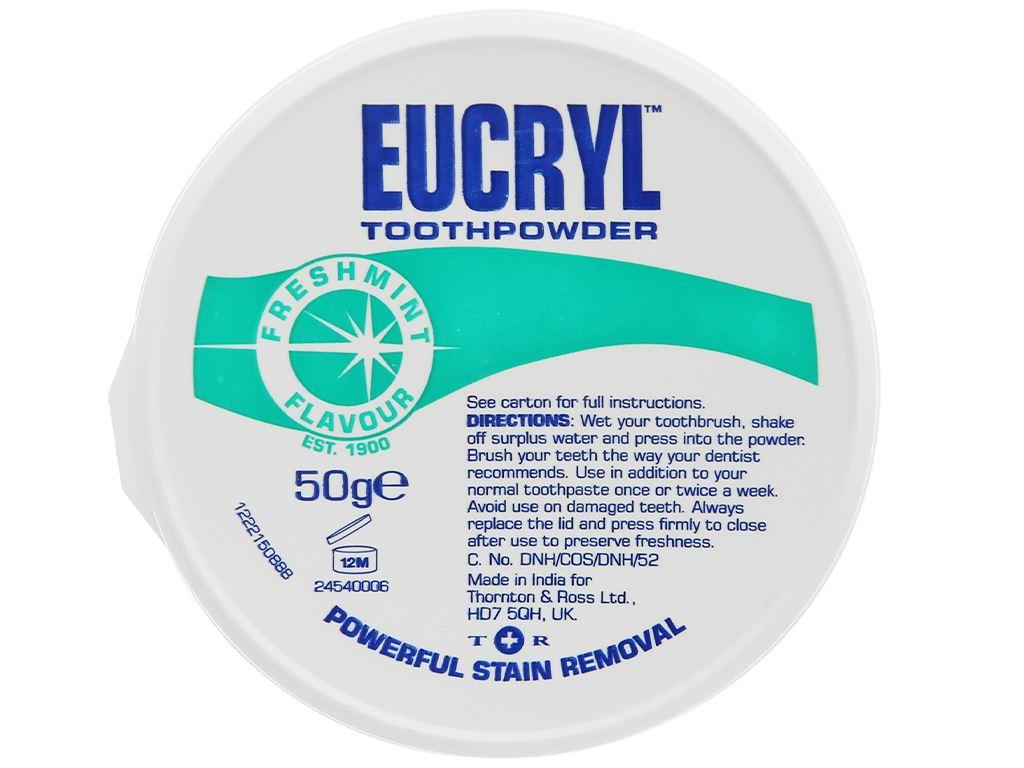 Bột đánh trắng răng Eucryl Toothpowder 50g 4