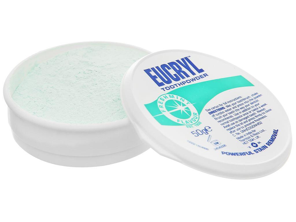 Bột đánh trắng răng Eucryl Toothpowder 50g 5