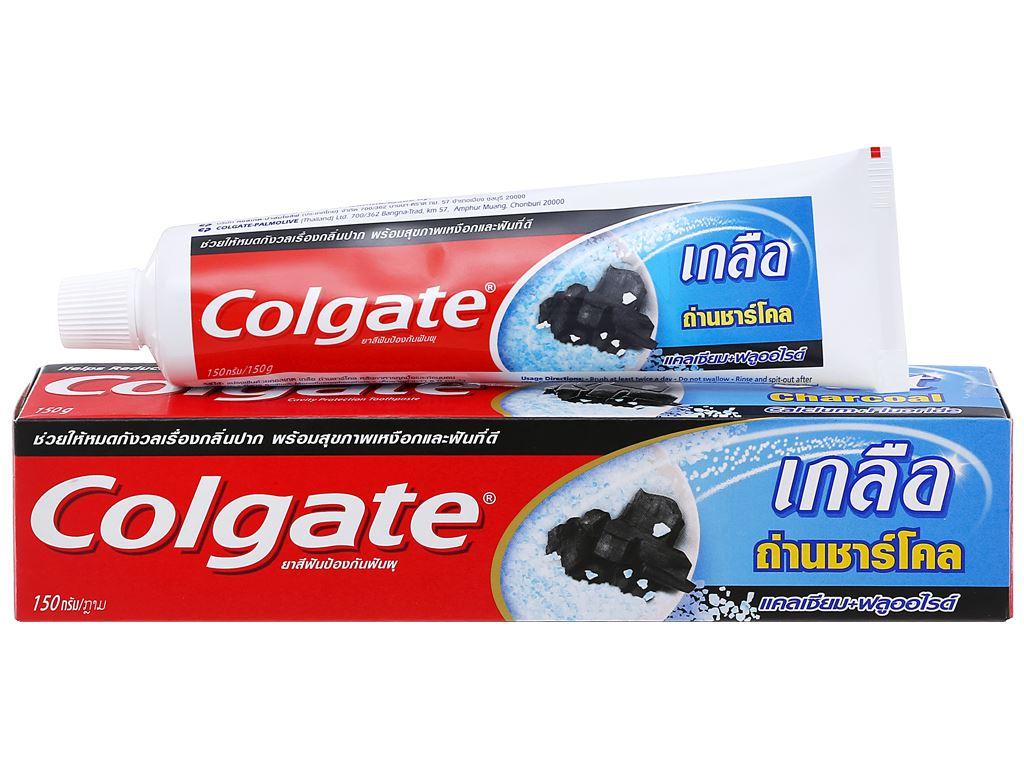 Bộ kem đánh răng và bàn chải đánh răng Colgate muối than hoạt tính 150g 1