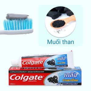 Bộ kem đánh răng và bàn chải đánh răng Colgate muối than hoạt tính 150g